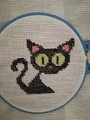 Needlework black cat
