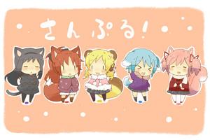Neko Madoka characters