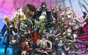 New Danganronpa V3 Cast kertas dinding
