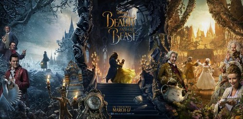 Beauty and the Beast (2017) Обои entitled New poster of Emma Watson's 'Beauty and the Beast' with the full cast