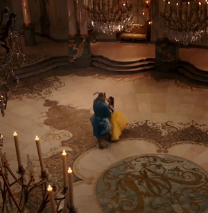 New scenes of Beauty and the Beast