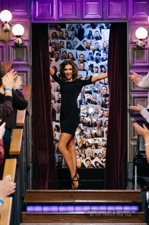 Nina Dobrev at The Late toon With James Corden