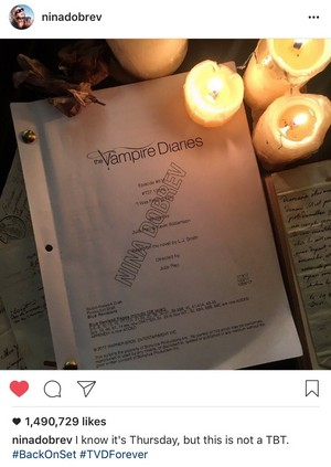 Nina Dobrev officially in TVD Finale