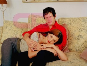 Norman Reedus and Helena Christensen