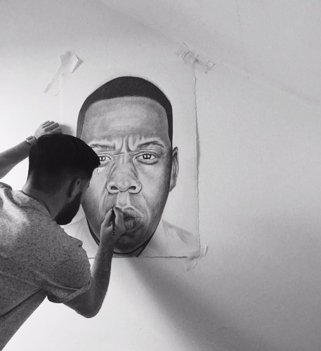 Jay Z wallpaper entitled Pencil drawing of jay