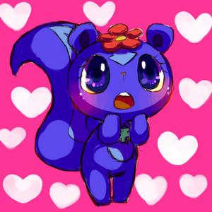 warna ungu tua, petunia in love.