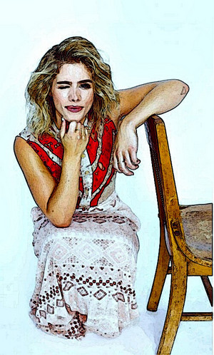 ছবি to Painting Emily Bett Rickards