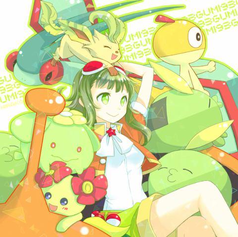 Gumi (Vocaloids) karatasi la kupamba ukuta called Pokémon Trainer Gumi!