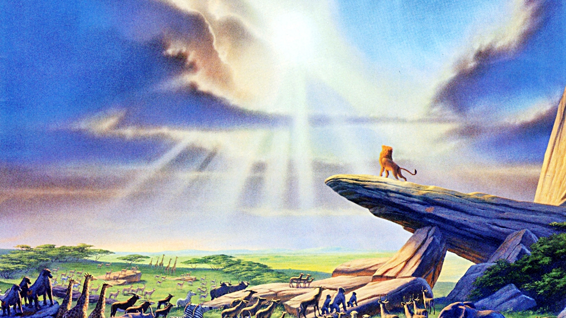 The Lion King Images Pride Rock Hd Wallpaper And Background Photos