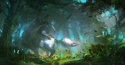 Hayao Miyazaki Wallpaper Entitled Princess Mononoke