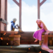 Rapunzel and Jack Frost ~ ♥ - tangled icon