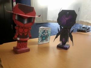 Red Rider and Black Lotus Papercraft