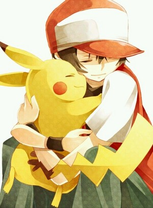 Red and pikachu