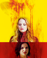 Regina and Emma - once-upon-a-time fan art