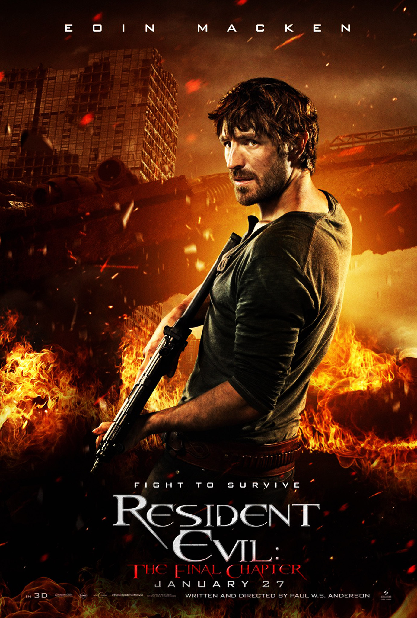 Resident Evil The Final Chapter Character Poster Doc