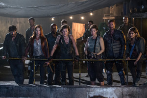 Resident Evil: The Final Chapter - Doc, Claire, Razor, Alice, Abigail, Christian and Cobalt