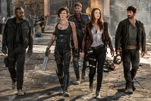 Resident Evil: The Final Chapter - Razor, Alice, Christian, Claire and Doc