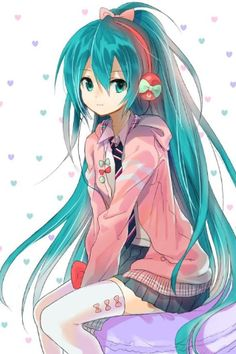 hatsune miku wallpaper titled Ribbon Girl Miku