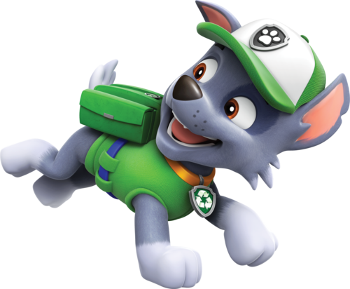 PAW Patrol karatasi la kupamba ukuta titled Rocky, The Mixed Breed