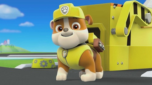 PAW Patrol wolpeyper titled Rubble, The English Bulldog