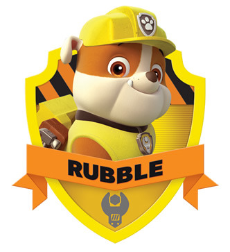 PAW Patrol Wallpaper Titled Rubble Badge