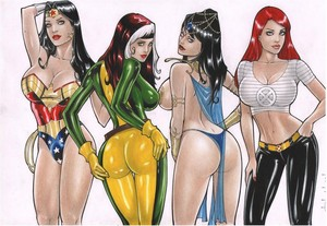 Rubismar Wonder Woman Rogue Dejah Thoris Jean Grey por comiconart