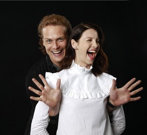 Sam Heughan and Caitriona Balfe in LA Times Photoshoot