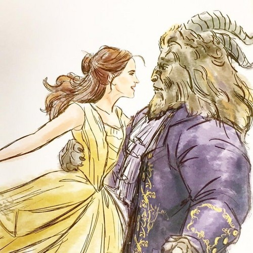 Beauty and the Beast (2017) kertas dinding entitled Song as old as rhyme