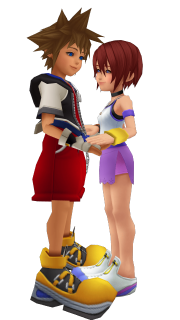 Sora x Kairi KH1 Hearts Connected