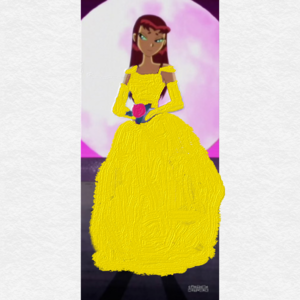 Starfire as Princess Belle from Beauty And The Beast