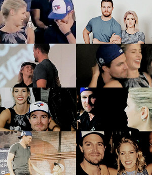 Stephen Amell and Emily Bett Rickards in 2016