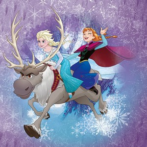 Sven, Elsa and Anna