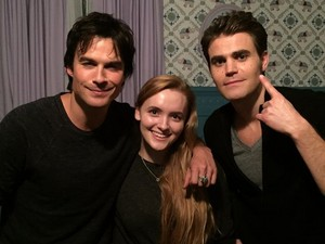 TVD 8x09 ''The Simple Intimacy of the Near Touch'' Bangtan Boys Ian Somerhalder and Paul Wesley