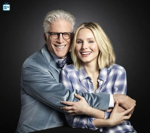 The Good Place Portraits - Kristen glocke and Ted Danson