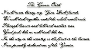 The Goonie Oath