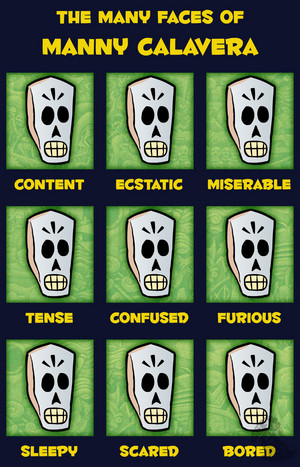 The Many Faces of Manny Calavera