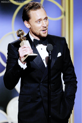 Tom and his Golden Globe Award