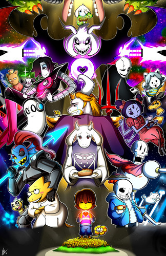 UNDERTALE-The Game wolpeyper titled Undertale