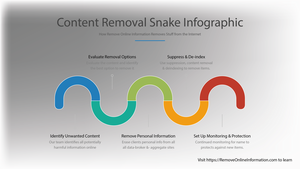 Unwanted Online Content Removal Snake Infographic