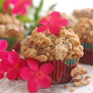 Vegan banana Crumb Muffins por Wai Lana