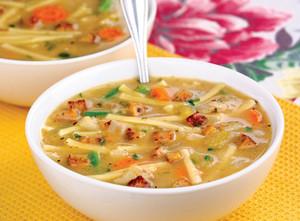 Vegetarian chicken noodle सूप