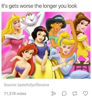 Very freaky Disney-Prinzessin picture
