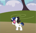 Vinyl and Octavia child Dj clef.PNG - my-little-pony-friendship-is-magic fan art