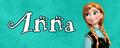 Walt Disney Character Banner - Anna - walt-disney-characters fan art