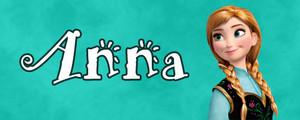 Walt ডিজনি Character Banner - Anna