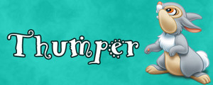 Walt 디즈니 Character Banner - Thumper
