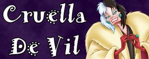 Walt Disney Villain Banner - Cruella De Vil