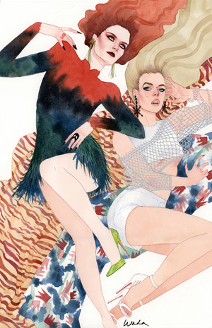 X Fashions Jean Grey and Emma Frost によって kevinwada