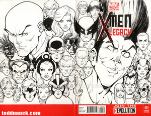 X men Legacy sketch cover por ToddNauck