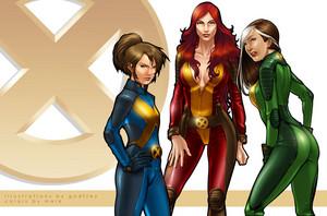 X men Phoenix Shadowcat Rogue por Markovah